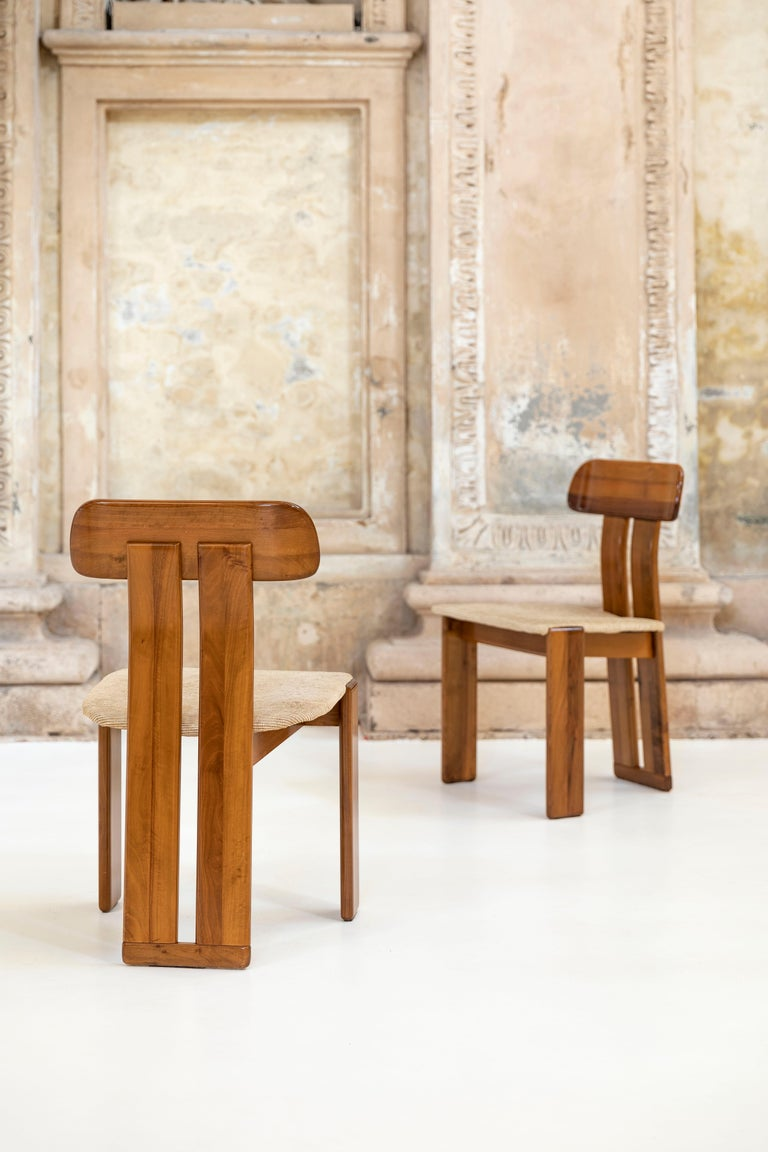 Mid-Century Modern Set of six Afra and Tobia Scarpa chairs