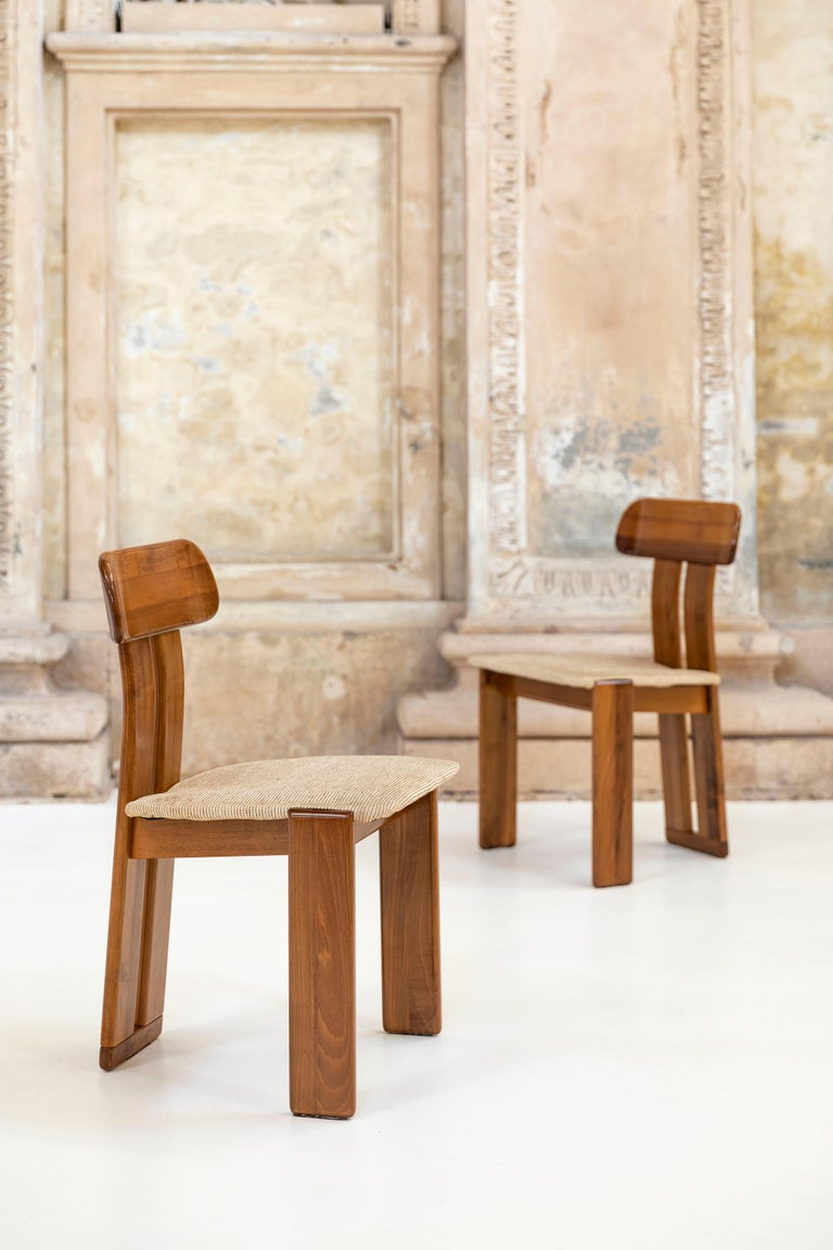 Italian Set of six Afra and Tobia Scarpa chairs