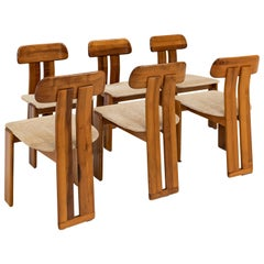 Set of six Afra and Tobia Scarpa chairs