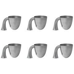 Set of Six Aldo Bakker Tin Vessel 'Support' by Karakter