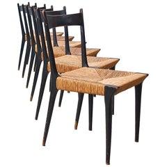 Set von Sechs Alfred Hendrickx S2 Esszimmerstühlen, Belgien, 1958