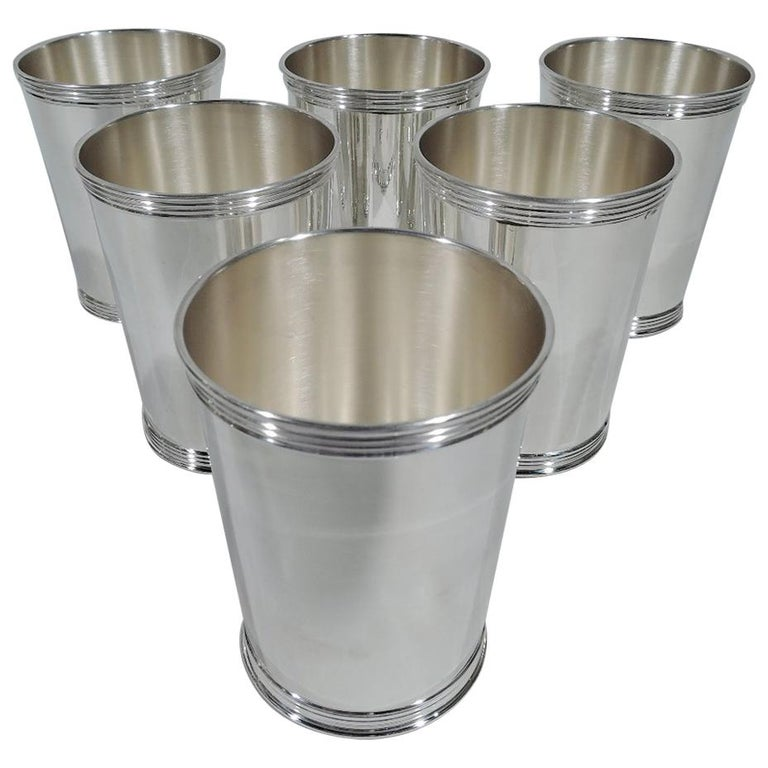 Set of Six American Sterling Silver Mint Julep Cups