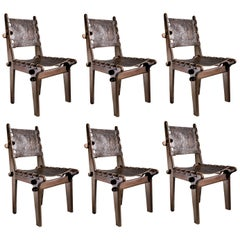 Set of Six Angel Pazmino for Muebles De Estilo Midcentury Dining Chairs, 1960