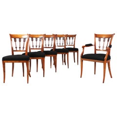 Set of Six Antique Chairs, Directoire, Biedermeier, Netherlands, circa 1800