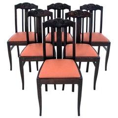 Set of Six Antique Chairs, Poland, circa 1910