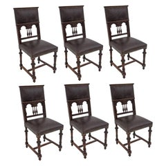 Set of Six Antique Chairs, Western Europe, circa 1880, after Renovation