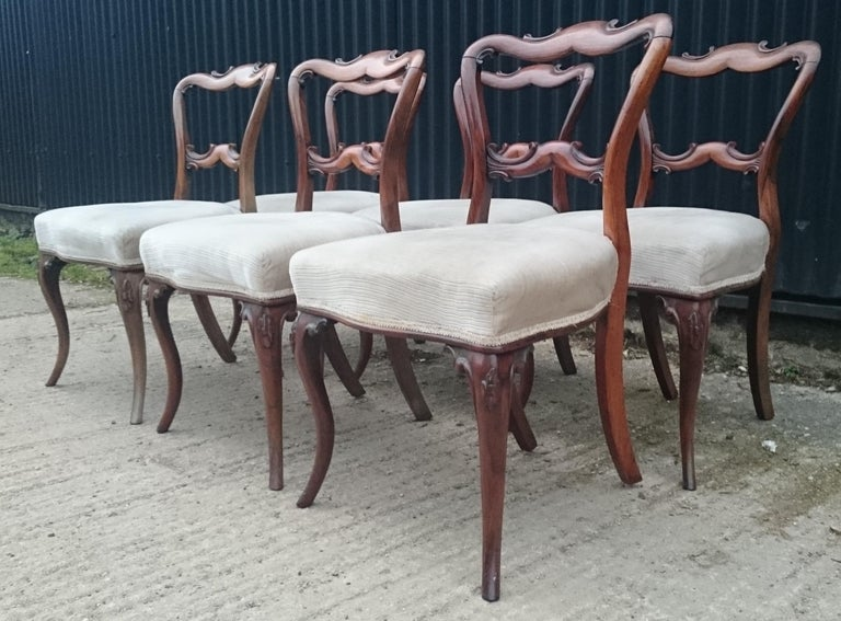 Victorian Set of Six Antique Dining Chairs For Sale