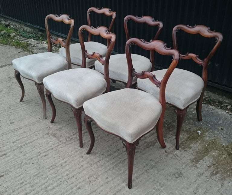 19th Century Set of Six Antique Dining Chairs For Sale