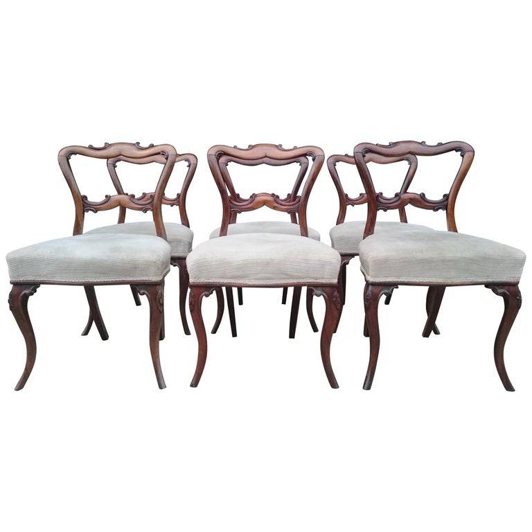Pleasing Set Of Six Antique Dining Chairs Alphanode Cool Chair Designs And Ideas Alphanodeonline