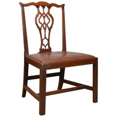 Set of Six Antique Dining Chairs, Mahogany, English, Georgian, Chippendale