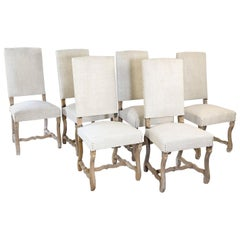 Set of Six Antique French Mutton Leg Chairs