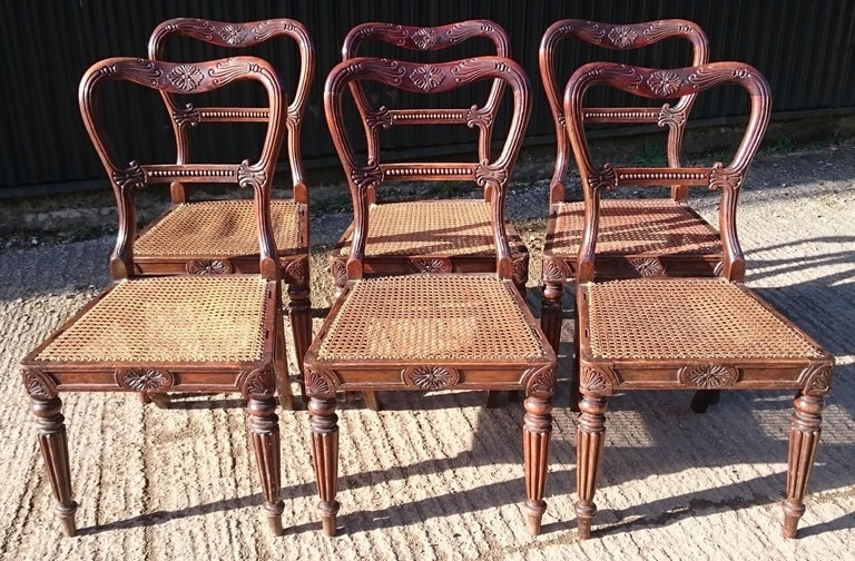 Simply wonderful set of six antique dining chairs. These chairs are the Classic