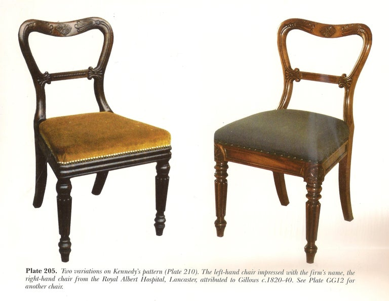 Set of Six Antique Regency Chairs Made by Gillow of Lancaster and London For Sale 3