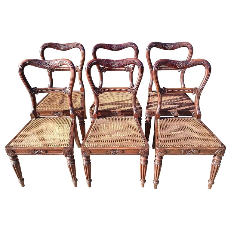 Set of Six Antique Regency Chairs Made by Gillow of Lancaster and London For Sale