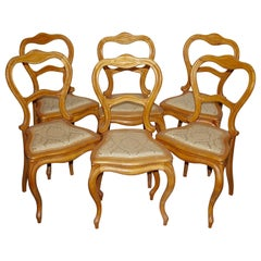 Set of Six Antique Side Chairs, Germany, Early 19th Century