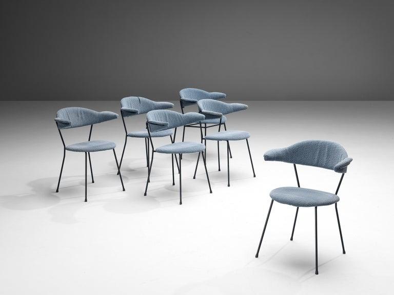 Italian Vittorio Chiaia and Massimo Napolitano for Arflex Set of Six Armchairs For Sale