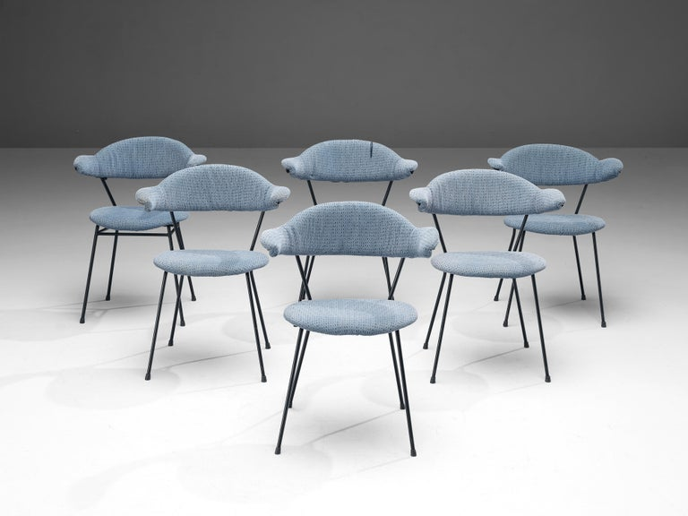 Mid-20th Century Vittorio Chiaia and Massimo Napolitano for Arflex Set of Six Armchairs For Sale