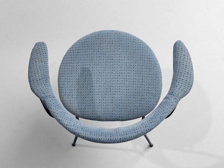 Metal Vittorio Chiaia and Massimo Napolitano for Arflex Set of Six Armchairs For Sale