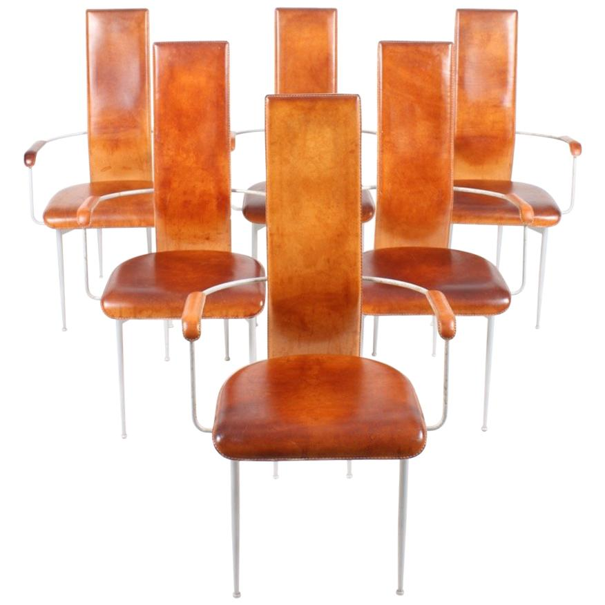 Set of Six Armchairs by Giancarlo Vegni and Gianfranco Gualtierotti