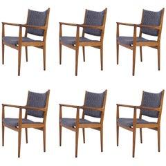 Set of Six Armchairs by Hans J. Wegner