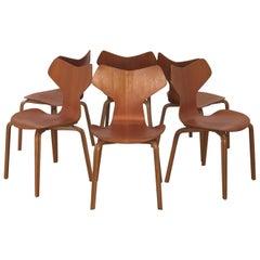 Set of Six Arne Jacobsen Grand Prix Chairs