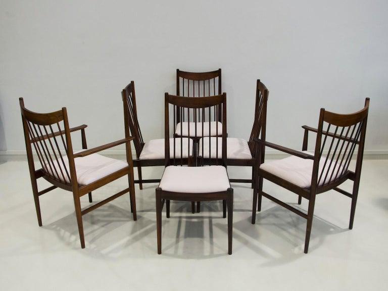 Scandinavian Modern Set of Six Arne Vodder Dining Chairs, Model 422 For Sale