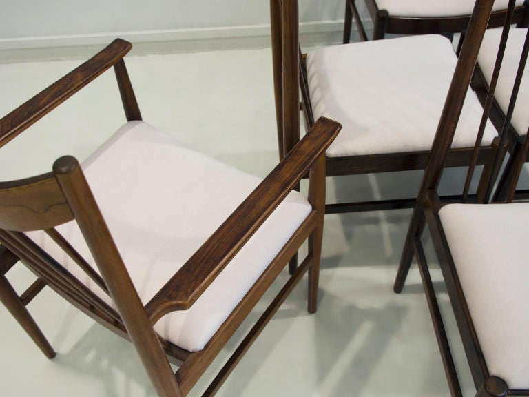 Danish Set of Six Arne Vodder Dining Chairs, Model 422 For Sale