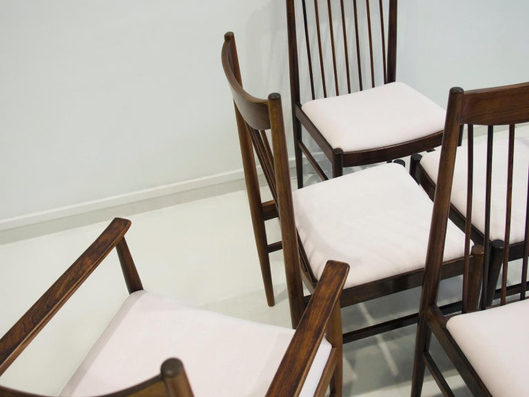 Set of Six Arne Vodder Dining Chairs, Model 422 In Good Condition For Sale In Madrid, ES