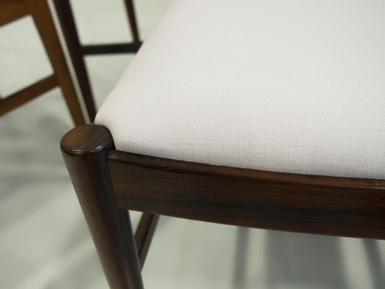 Fabric Set of Six Arne Vodder Dining Chairs, Model 422 For Sale