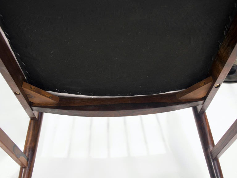 Set of Six Arne Vodder Dining Chairs, Model 422 For Sale 2