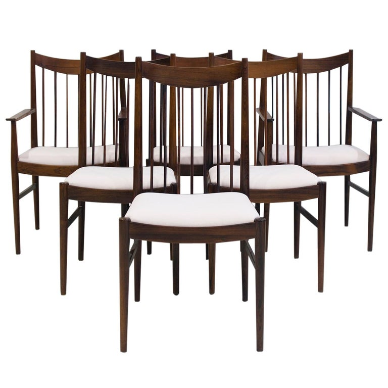 Set of Six Arne Vodder Dining Chairs, Model 422 For Sale