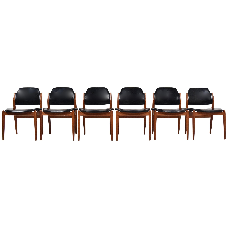 Set of Six Arne Vodder Dining Chairs Model 62 for Sibast, Denmark, 1960s
