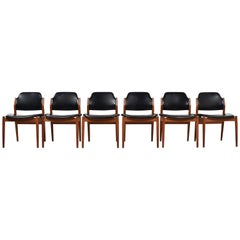 Set of Six Arne Vodder Dining Chairs Model 62 for Sibast, Denmark, 1960s