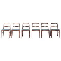 Set of Six Arne Vodder Model 430 Rosewood Dining Chairs, Sibast, Denmark, 1960s