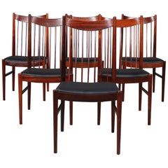 Set of Six Arne Vodder Rosewood Chairs, Model 422, Made by Sibast