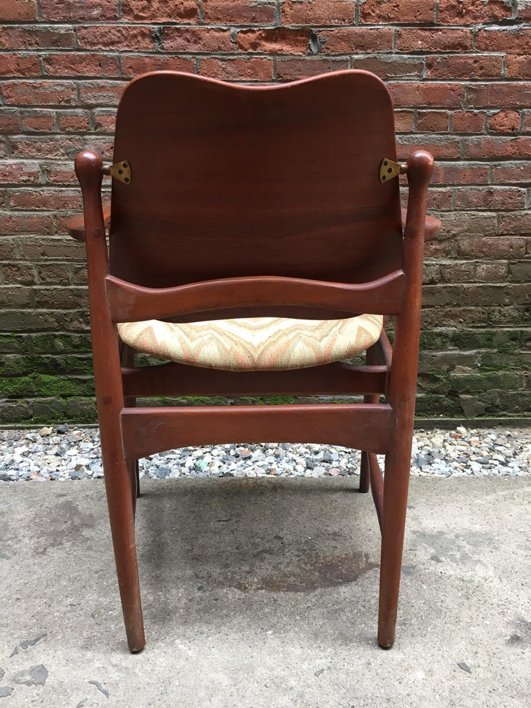 Set of Six Arne Vodder Teak and Cane Back Dining Chairs For Sale 3