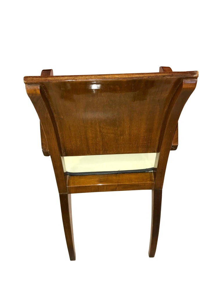 Set of Six Art Deco Armchairs, Rosewood and Beech, France, circa 1925 For Sale 2