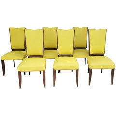 Set of Six Art Deco Chairs / Dining Room Chairs, Paris, circa 1925