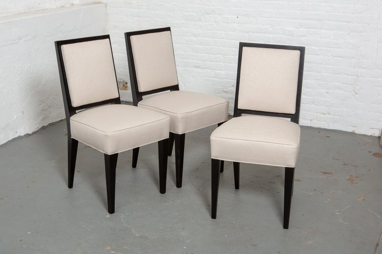 Set of Six Art Deco Style Dining Chairs In Good Condition For Sale In New York, NY