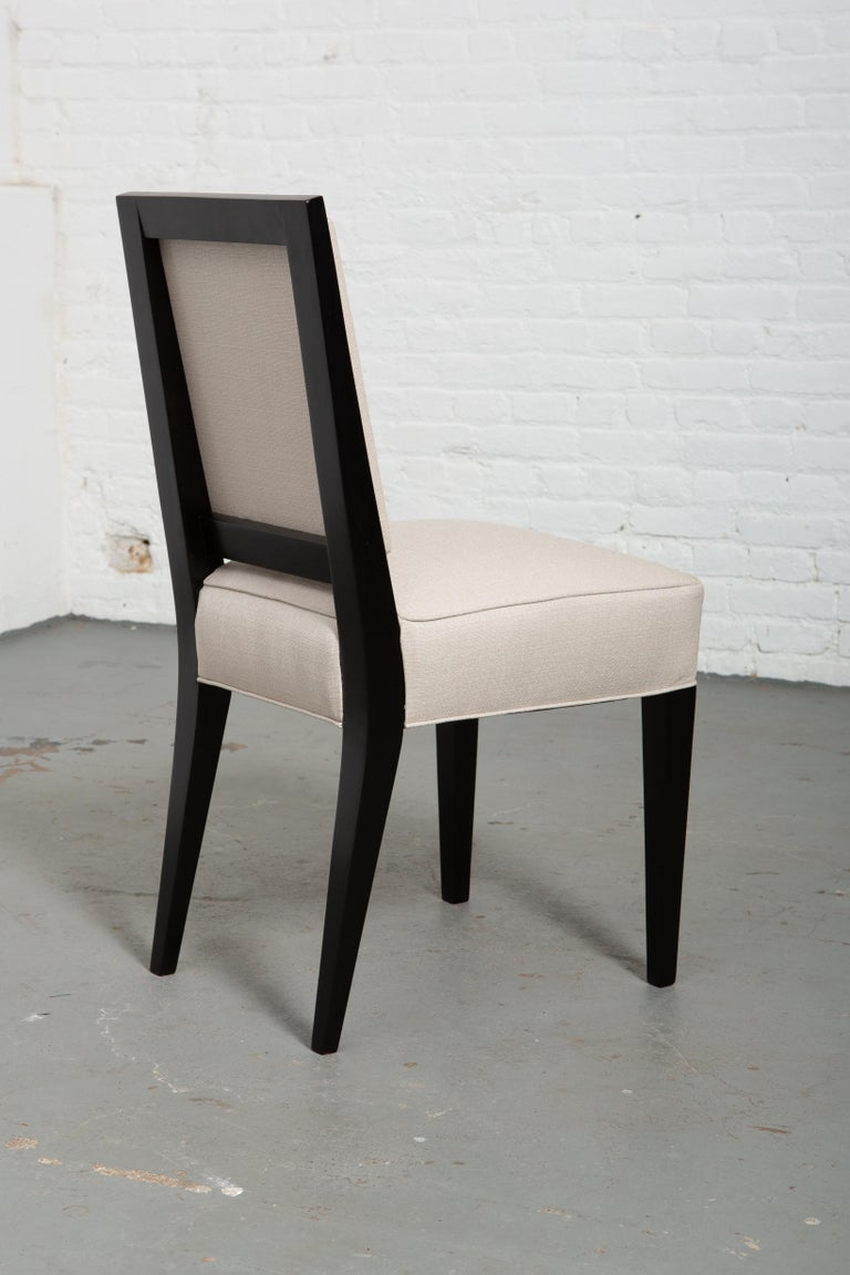Wood Set of Six Art Deco Style Dining Chairs For Sale