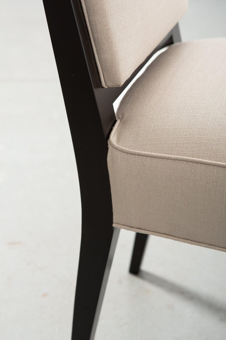 Set of Six Art Deco Style Dining Chairs For Sale 2