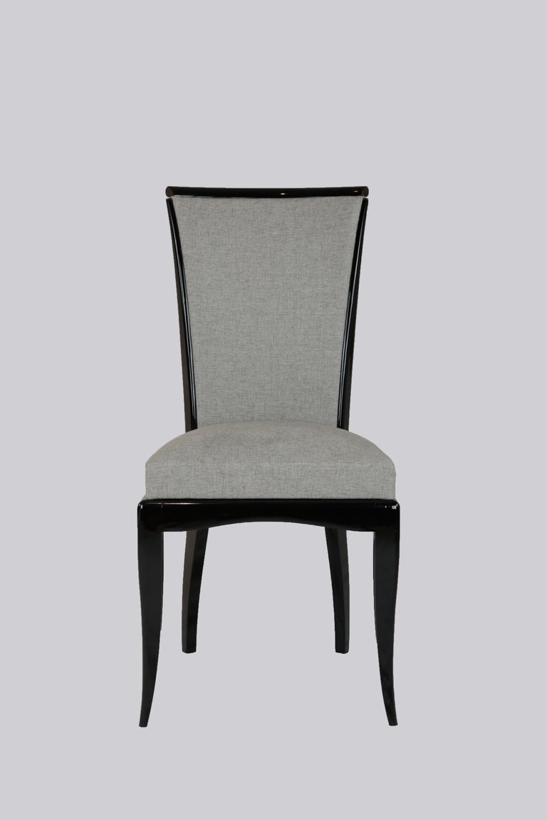 French Set of Six Art Deco Dining Chairs, France, circa 1930 For Sale