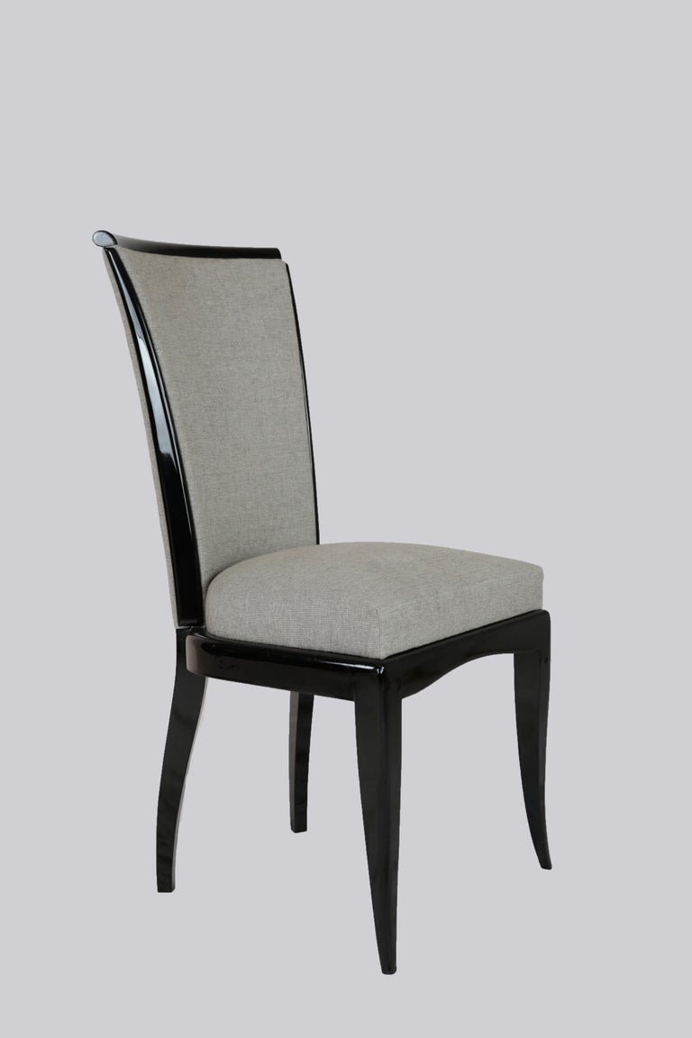 Set of Six Art Deco Dining Chairs, France, circa 1930 In Good Condition For Sale In Muenster, NRW