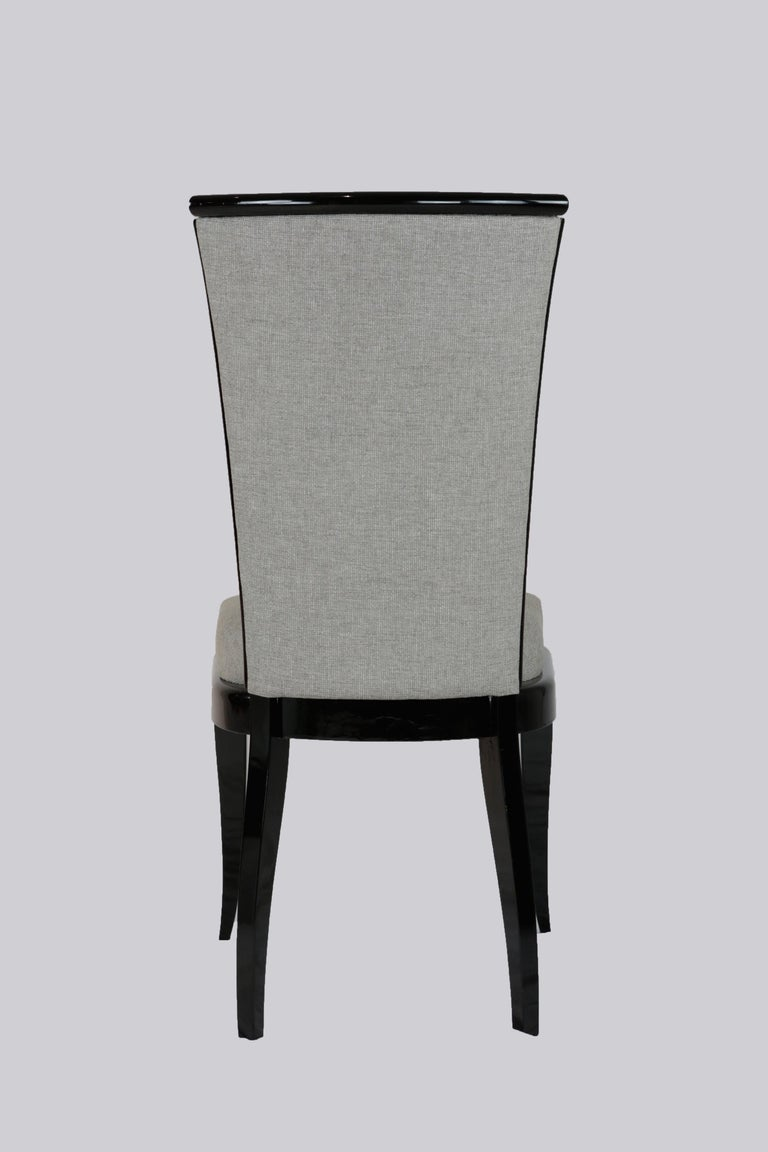 Wood Set of Six Art Deco Dining Chairs, France, circa 1930 For Sale