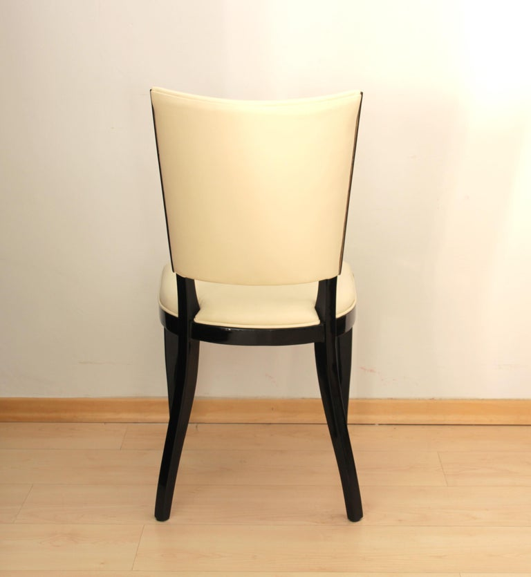 Mid-20th Century Set of Six Art Deco Dining Chairs, France, circa 1930 For Sale