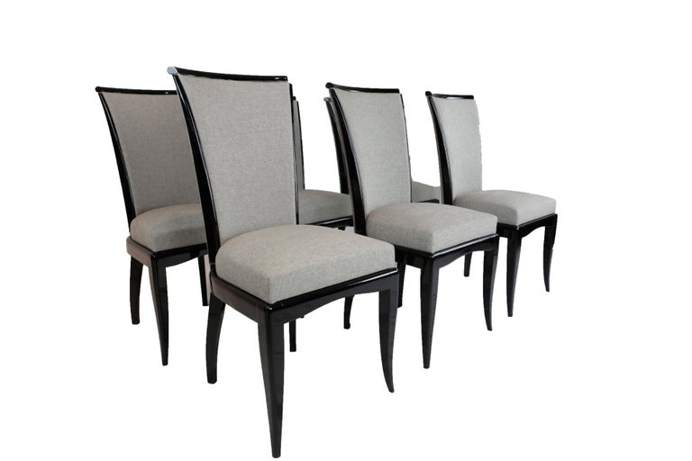 Set of Six Art Deco Dining Chairs, France, circa 1930 For Sale 2