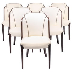 Set of Six Art Deco Dining Chairs, circa 1940