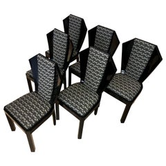 Set of Six Art Deco Dining Room Chairs, France, circa 1930