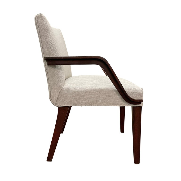 Fabric Set of Six Art Deco Herman Miller Dining Chairs For Sale