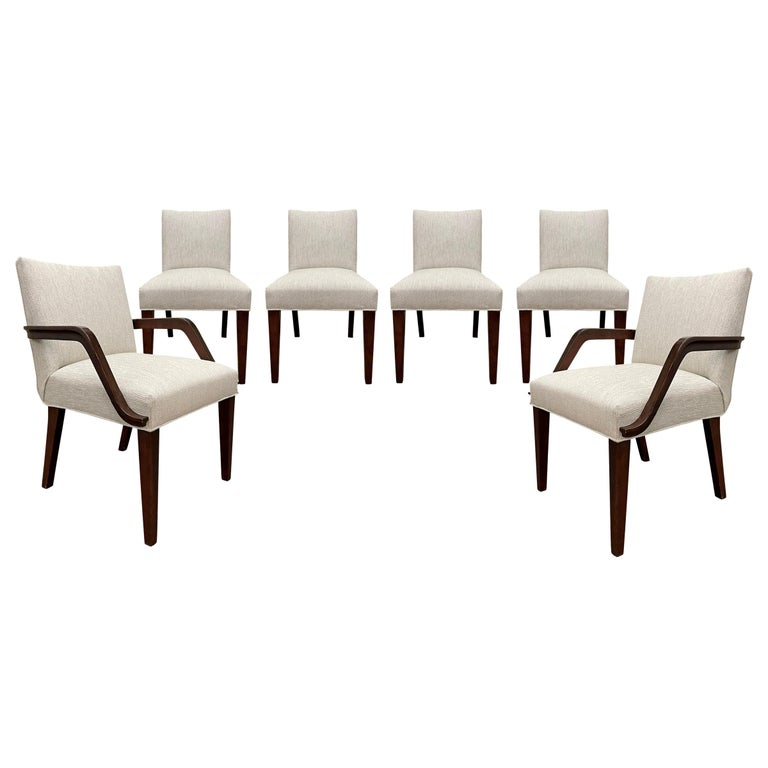 Set of Six Art Deco Herman Miller Dining Chairs For Sale